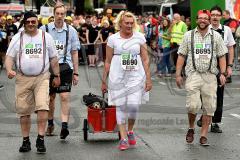 13. Siegerländer AOK-Firmenlauf am 5. Juli 2016 mit Start und Ziel auf dem Bismarckplatz