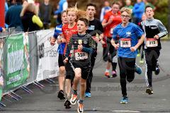 30. Hachenburger Löwenlauf -  9. Lauf Ausdauer-Cup 2016 im Bild (von links): Jan Röhlich (halb verdeckt/RSV Daadetal), Carolin Schmidt (Nr. 356/SG Wenden), Emilian Hees (Nr. 359/Daaden), Flemming Stinner (Nr. 320/DJK Betzdorf), Severin Schlosser (Nr. 315/TSG Biersdorf).