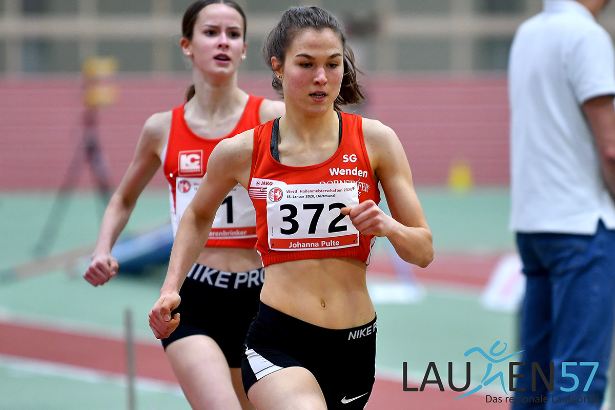 Johanna Pulte (Startnummer 372) von der SG Wenden